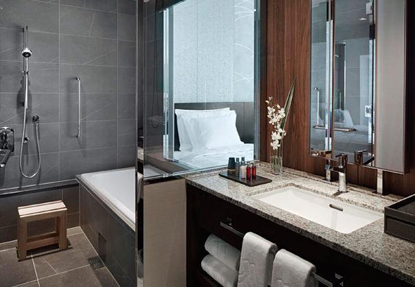 大阪萬豪酒店 Osaka Marriott Miyako Hotel - 豪華雙人房浴室