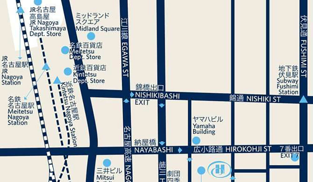 名古屋希爾頓 Nagoya Hilton - 地圖