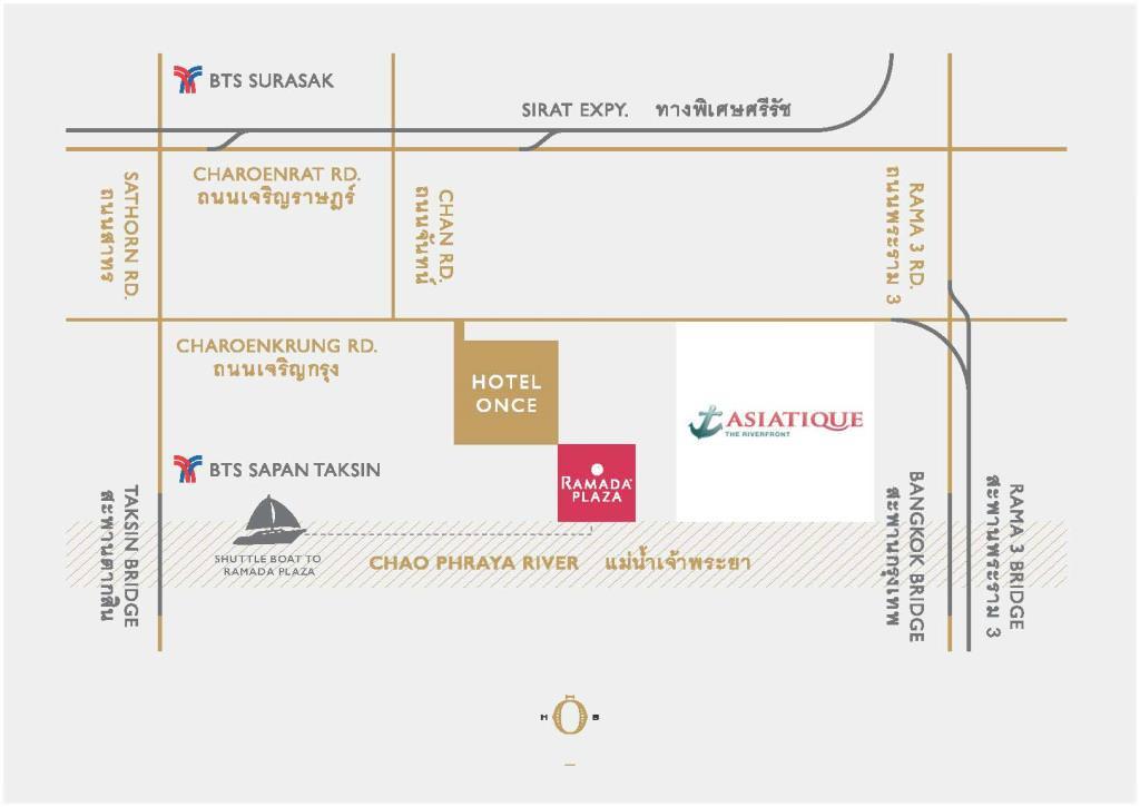 曼谷酒店推介-曼谷文思酒店 Hotel Once Bangkok 旁邊係 Ramanda酒店