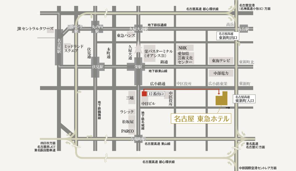 名古屋東急飯店 Nagoya Tokyu Hotel - 地圖