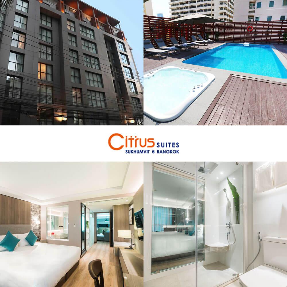 康帕斯酒店集團素坤逸6號柑橘套房酒店  Citrus Suites Sukhumvit 6 by Compass Hospitality