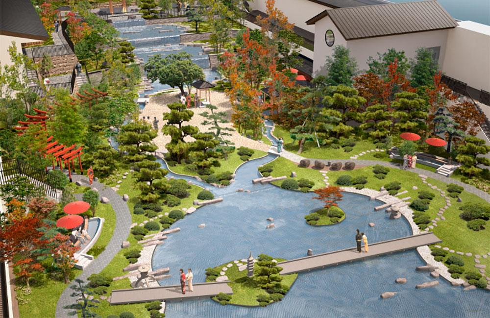 空庭溫泉 OSAKA BAY TOWER-大型日式庭園