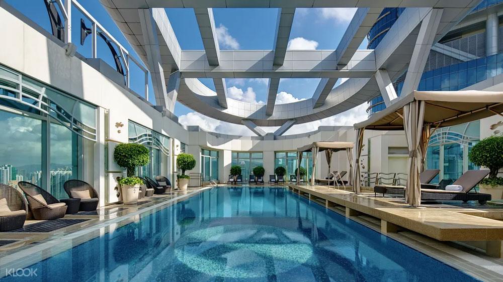 香港康得思酒店-室外泳池